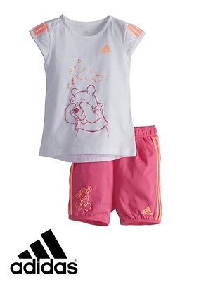 adidas originals baby girl infants T shirt shorts set Perfect gift BNWT S14383