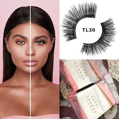 f63f66fb07e Details about Genuine Tatti Lashes TL30 3D LUXURY Human Hair Fake False  Strip Eyelashes