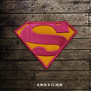Super-Girl-Super-Hero-Embroidered-Iron-On-Sew-On-Patch-Badge-For-Clothes-etc