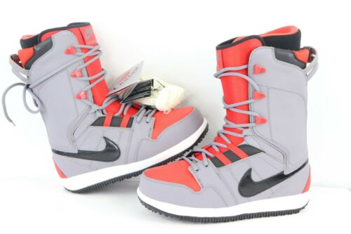 New Nike Vapen SB Mens Size 8.5 Winter Snowboarding Snowboard Boots Red Gray