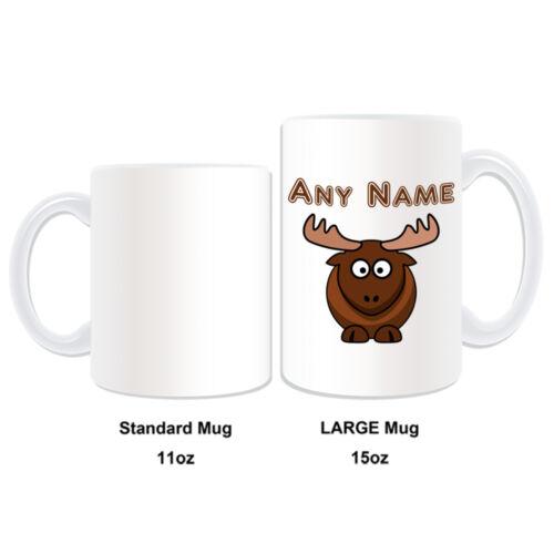 Cadeau personnalisé tasse Moose Argent Boîte tasse café thé nom stupide Cerf Renne