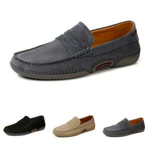Retro Mens Driving Moccasins Shoes Pumps Slip on Loafers Flats Breathable Soft L