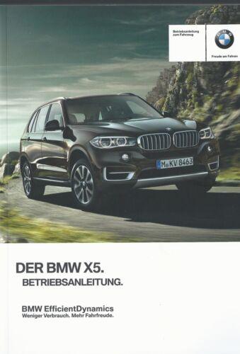 BMW X5 F15 Betriebsanleitung  2015 Bedienungsanleitung Handbuch  BA