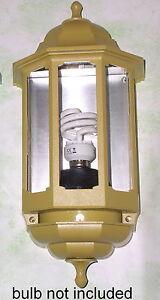 VICTORIAN-STYLE-HALF-LANTERN-wall-mounted-240V-mains-powered-mustard-yellow