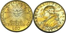 elf Vatican City 20 Lire 1962 Pope Saint John XXIII Council Dove