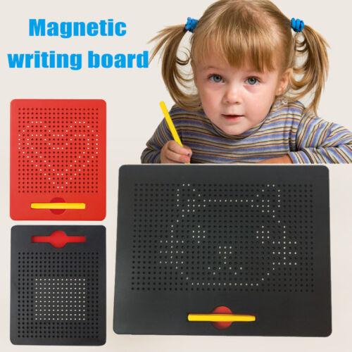 Kind pädagogisches Spielzeug magnetische Tablette Korn Zeichenbrett Griffel NEU