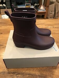 b7147208186 Details about Womens Hunter Refined Low Heel Ankle Biker Boots - Size 8