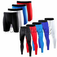 Mens Compression Shorts Base layer Under Skin Tights Sport Gym Wear Cycling Pant