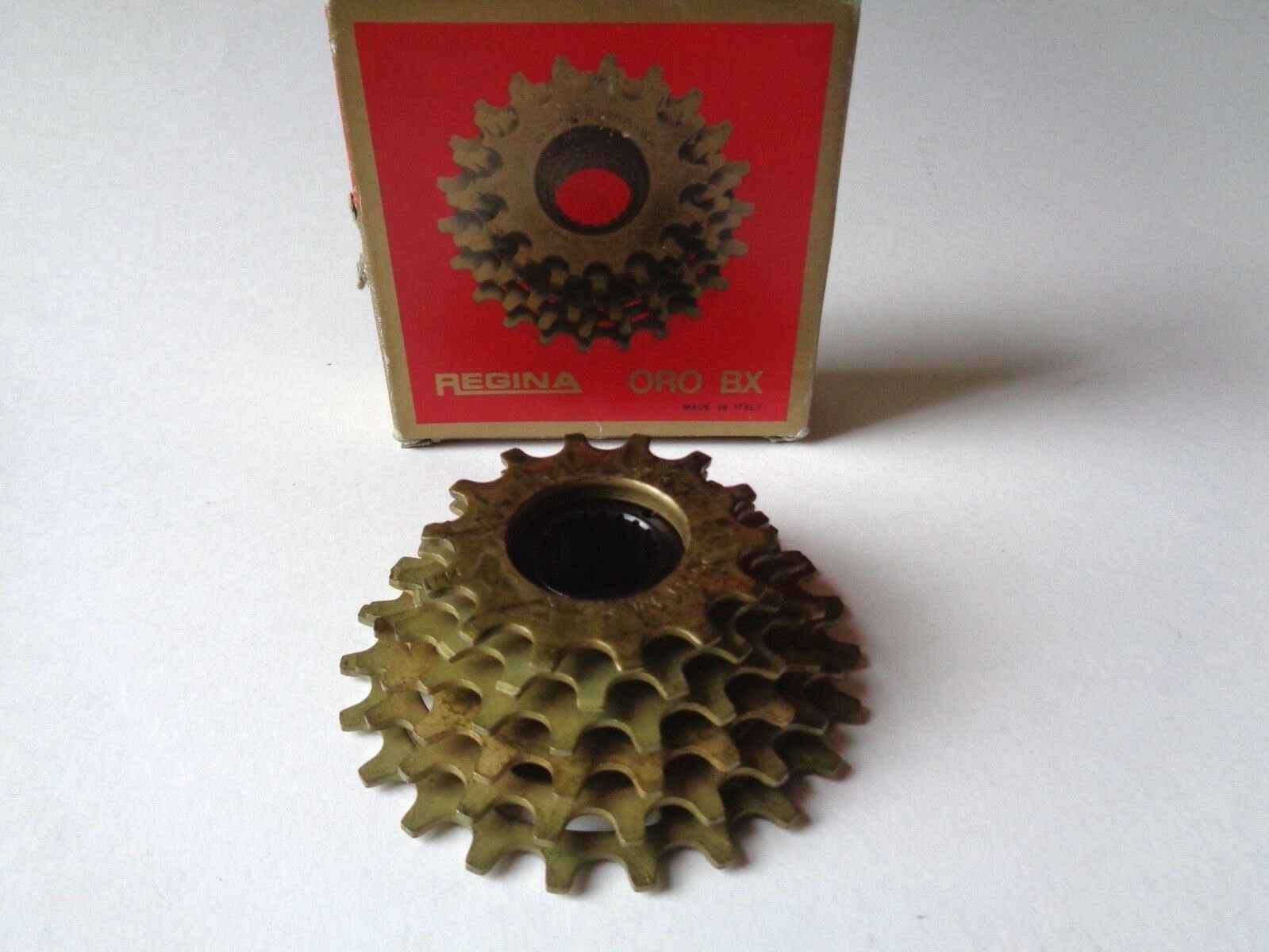 NOS Vintage 1980s REGINA EXTRA oro BX COGS 14-23 6 Velocidades ISO cassette de rueda libre