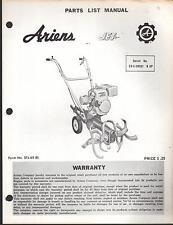 ARIENS JET ROTARY TILLER # 23-L-09001 & UP  PARTS MANUAL P/N STJ-65 (R)  (171)