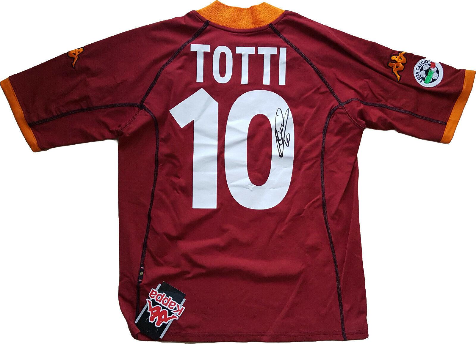 Maglia Totti Roma scudetto 2001 2002 Kappa signed Ina Assitalia NUOVA XL