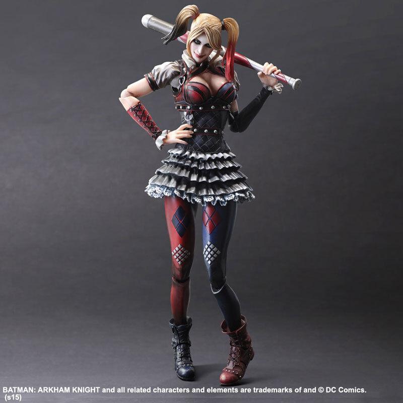 Square Enix Dc Harley Quinn Batman Arkham-Ritter  4 Play Kunst Kai Figur Neu