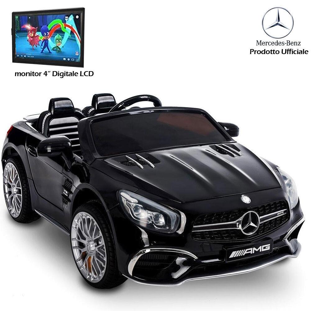 Auto Voiture électrique pour les enfants Mercedes SL65 AMG NOIR 12V