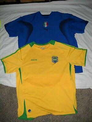 Nike Mens Shirt Short Sleeve Dri-Fit Brazil Soccer Football Yellow Variety