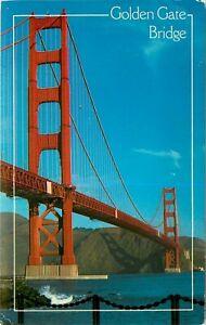 Chrome Postcard CA Da442 Golden Gate Bridge San Francisco Marin County Beautiful