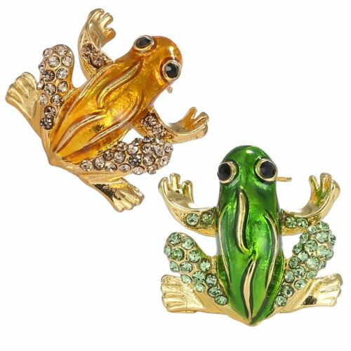 Animal Insects Frog Pearl Crystal Breastpin Women Brooch Pin Fashion Jewelry HOT