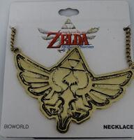 The Legend Of Zelda Video Game Triforce Logo Nintendo Brass Necklace