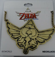 The Legend Of Zelda Video Game Triforce Logo Nintendo Brass Necklace