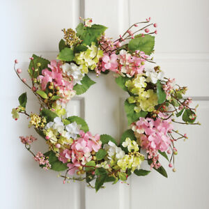 Incroyable Image Is Loading Spring Floral Hydrangea Door Wreath By Collections Etc