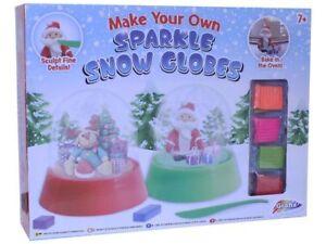 Mache-Deine-Eigene-Snow-Storm-Globus-Glitzer-Modellierung-von-Ton