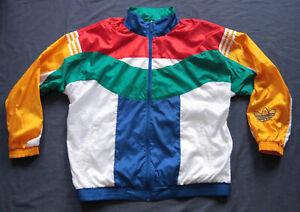 Adidas Originals Trainingsjacke Jacke Vintage Retro Oldschool Herren Gr. 48 M | eBay