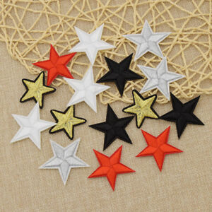Star-Embroidery-Sew-Iron-On-Patches-Badge-Clothes-Applique-Trim-DIY-Craft-10x