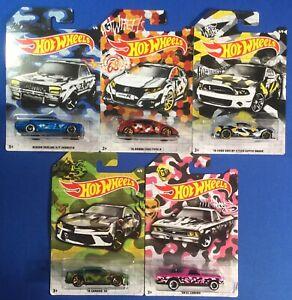 Hot-Wheels-2020-Camouflage-Series-Set-of-5-Walmart-Exclusive