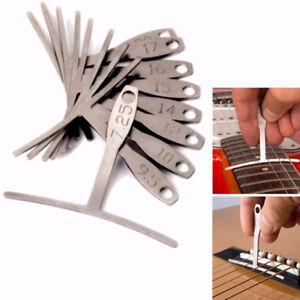 9pcs stainless steel guitar bass under string radius gauge ruller utensil tools 690184218225 ebay. Black Bedroom Furniture Sets. Home Design Ideas