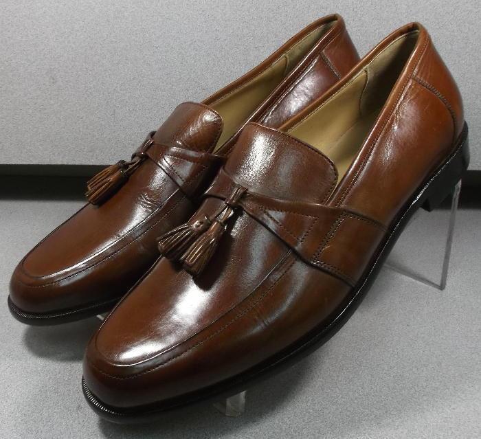 151346 PF50 Men's Shoes Size 13 M Dark Tan Leather Slip On Johnston & Murphy