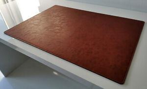 PM Schreibtischunterlage in Lora Leder 90 x 50 cognac braun
