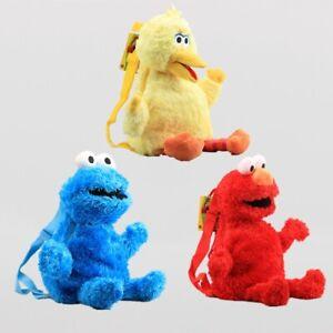 Sesame-Street-Plush-Stuffed-Backpack-Elmo-Cookie-Monster-Shoulder-Bag-Gifts-46CM