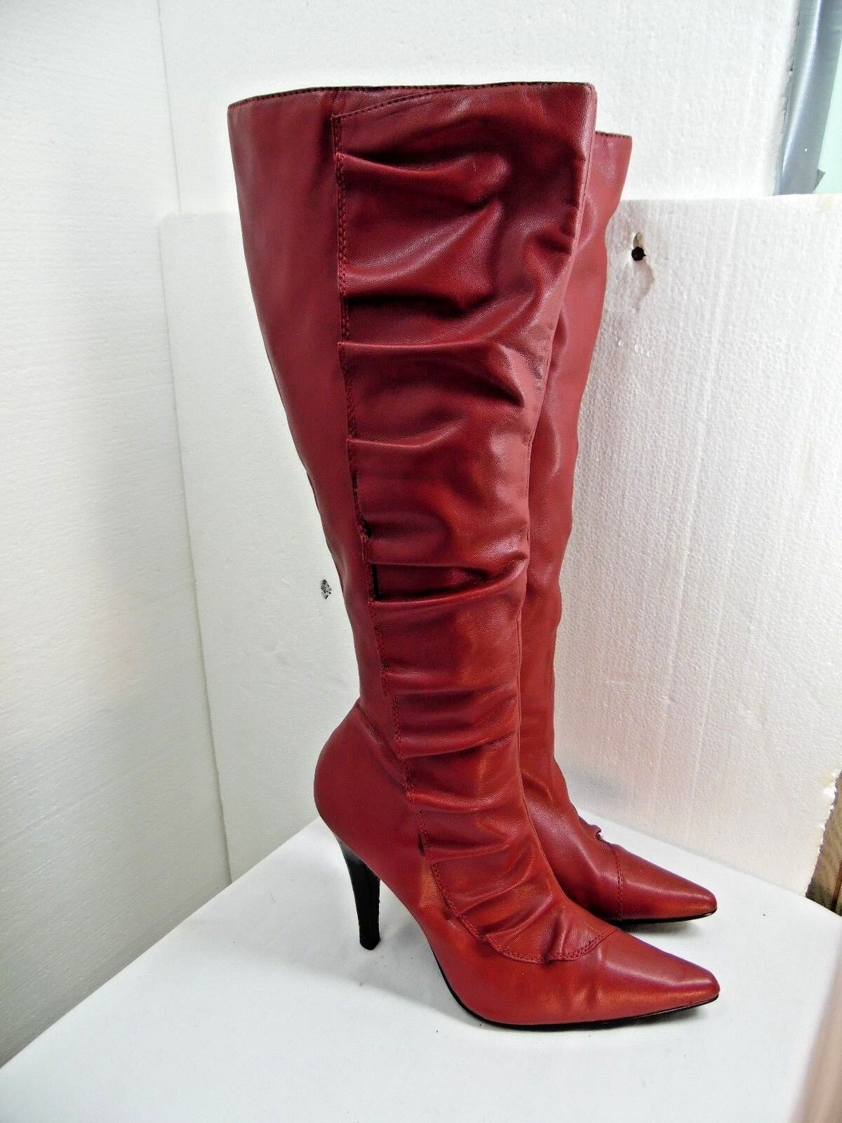 WOMENS DIBA BRAND BOOTS SIZE 7 REDIS BROWN COLOR TALL BOOT  ii2