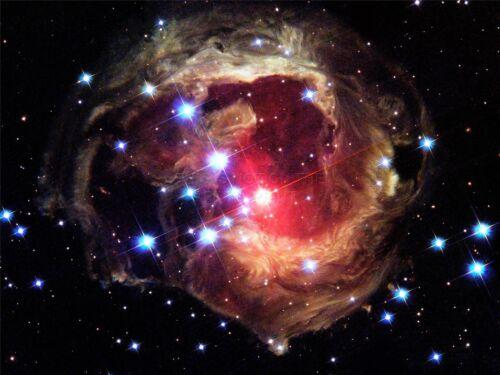 ART PRINT POSTER SPACE STARS NEBULA GALAXY COSMOS UNIVERSE GAS HUBBLE NOFL0419