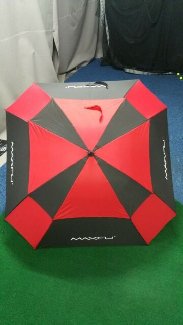 Maxfli Large Square Double Canopy Golf Umbrella, Auto open, 136cm Diameter - NEW