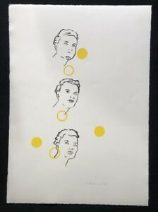 Ingrid Beckmann, 3 teste, farblithographie, 1998, a mano firmata e datata