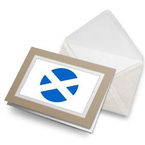 Greetings-Card-Biege-Scotland-Scottish-Flag-UK-9122