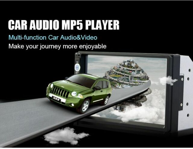 """Bluetooth 2 Din 7"""" Touch Screen In Dash Stereo Car MP3 Player FM Radio Rear View"""
