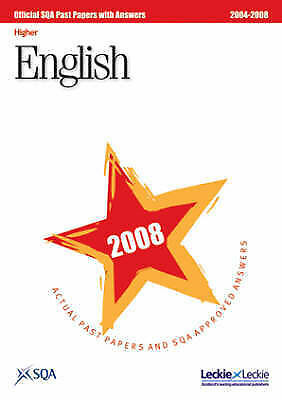 1 of 1 - English Higher SQA Past Papers: 2008 by SQA (Paperback, 2008)
