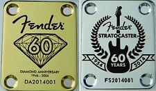 Fender 60th Anniversary Custom Laser Engraved Guitar Neck Plate
