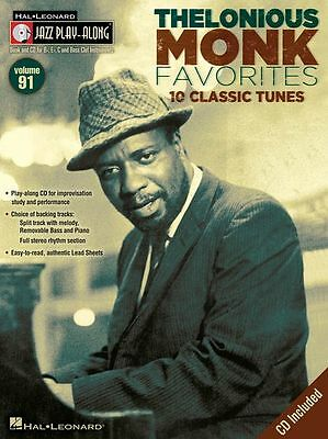 Jazz Play-Along Thelonious Monk Clarinet Sax Saxophone Flute BRASS Music Book