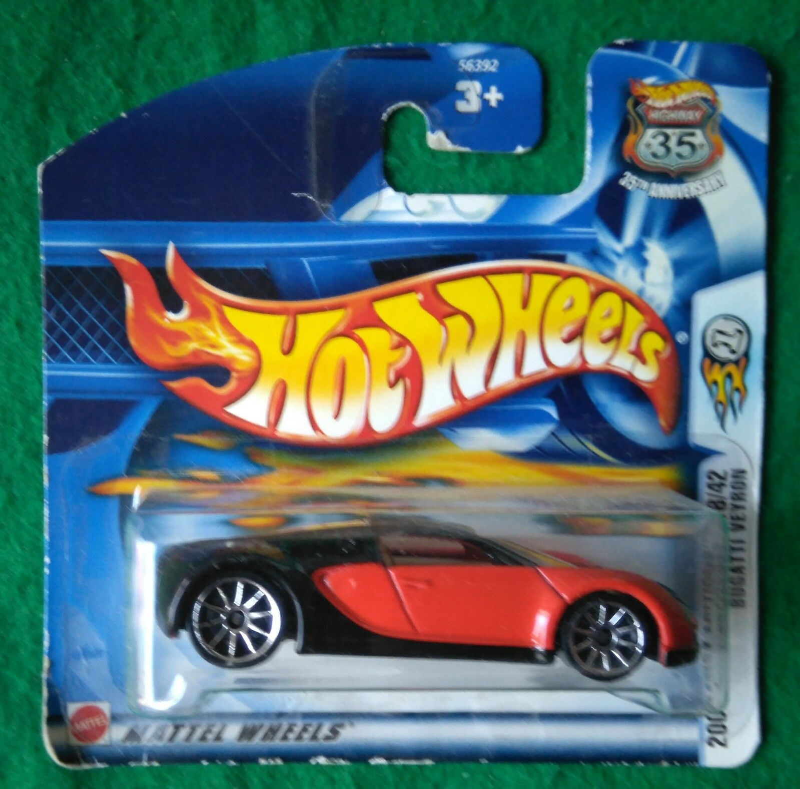 HOT WHEELS 2003 First Edition Bugatti Veyron UE shortcard RAR T Hunt ORIGINALE