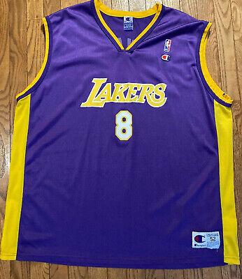 Rare Vintage 90s Los Angeles Lakers Kobe Bryant 8 Champion Jersey Mens (size 52)   eBay