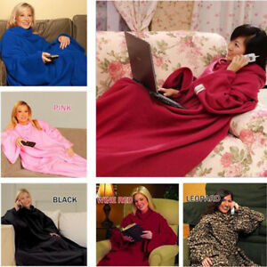 Snuggie-Fleece-Blanket-Sleeves-Soft-Throw-Blanket-Blankets-And-Throws-Robe-Cloak