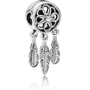 Genuino-PANDORA-Dreamcatcher-encanto-colgante-de-plata-esterlina-espiritual-797200-nuevo