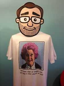 Are-You-Being-Served-Pop-Art-Mrs-Slocombe-Mollie-Sugden-White-T-Shirt