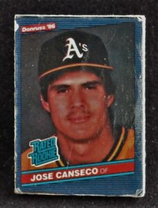 Jose Canseco 1986 Donruss Rated Rookie Card Pinback