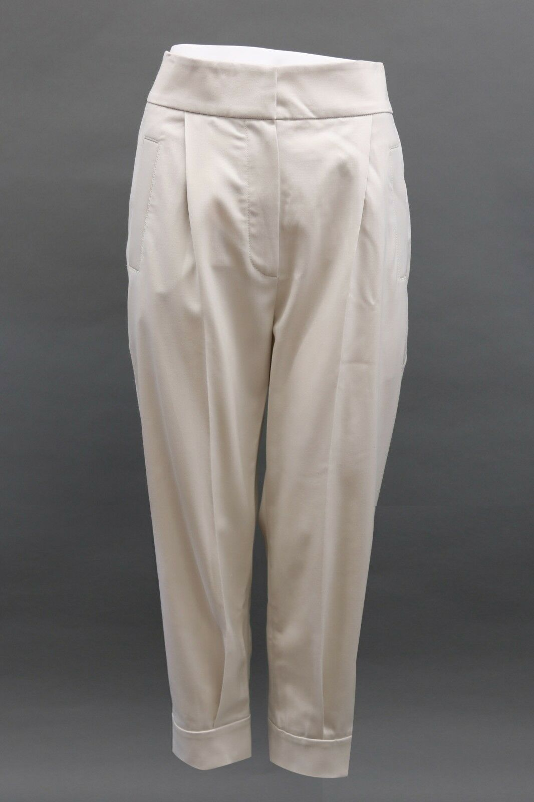 NWT 1325 Brunello Cucinelli Soft Fine VWool Knit Taperot Dress Pants 42 6US A181