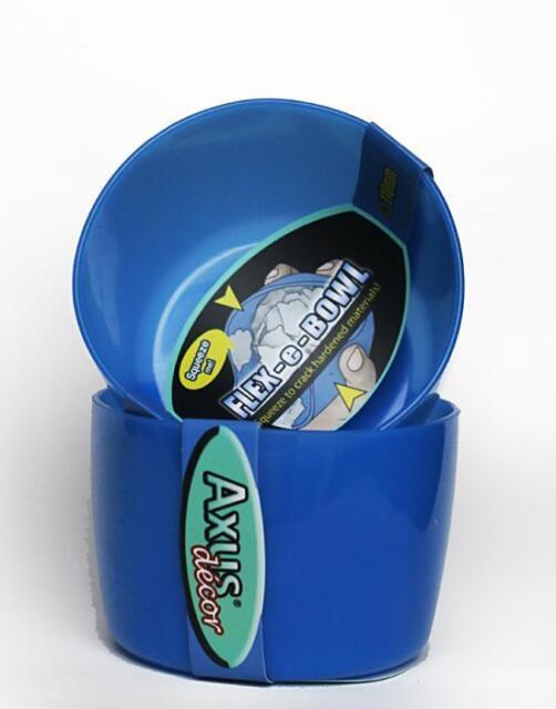 500ml Axus Flex-e-bowl Flexible Silicone Easy Clean Filler Bowl Blue