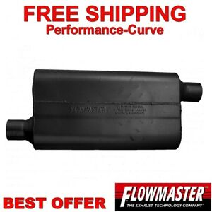 2.25 Offset IN 2.25 Offset OUT Moderate Sound by Flowmaster Flowmaster 842453 50 Delta Muffler 409S