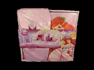 Disney-Princess-Micro-Mink-Sheet-and-Pillowcase-Set-Ariel-Belle-Aurora-NEW
